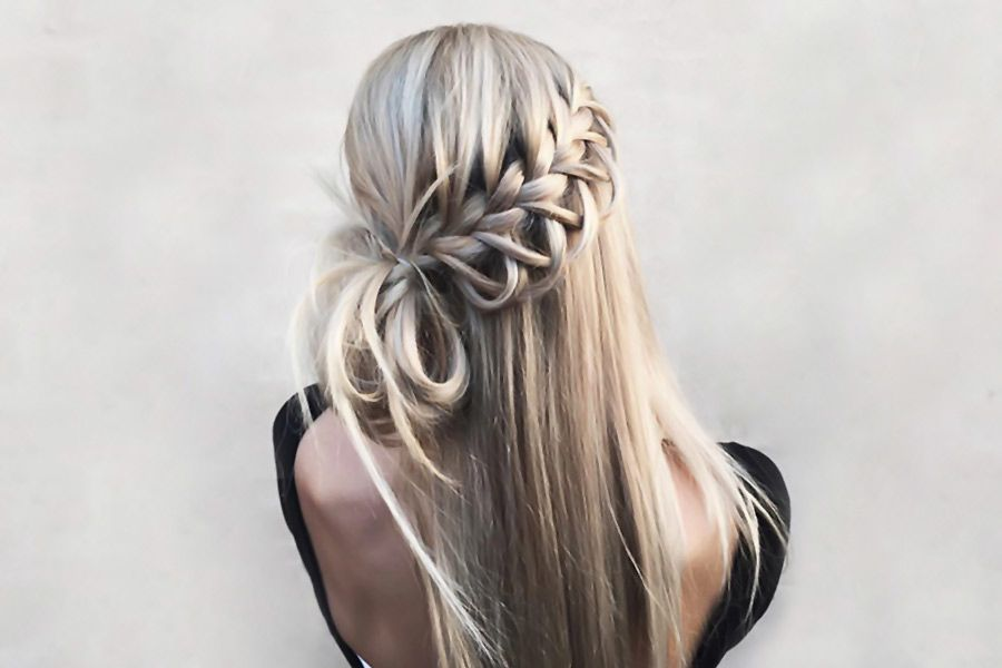 33 Romantic Looks With A Waterfall Braid Lovehairstyles Com