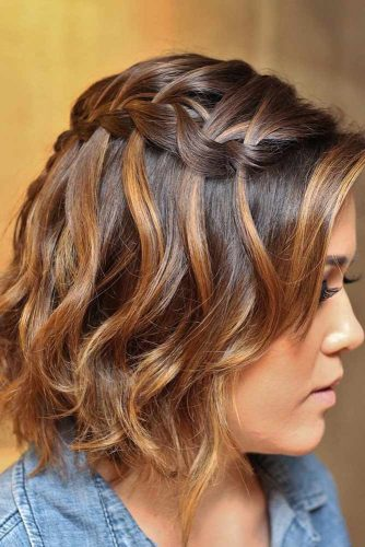 Side Waterfall Braid Hairstyles picture2