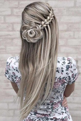 Waterfall Braids with Rosettes picture2