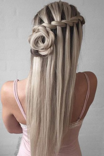 Waterfall Braids with Rosettes picture3