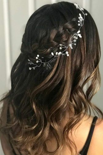 Waterfall Braids Hairstyles with Accessories picture1