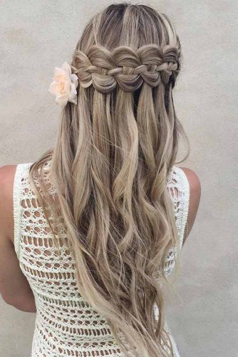 Waterfall Braids Hairstyles with Accessories picture2