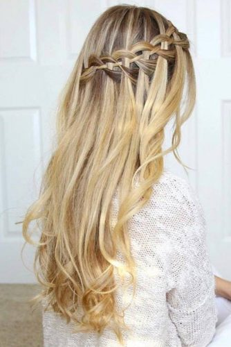 Waterfall Braid with Curls picture3