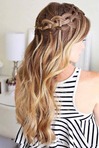 Waterfall Braid with Curls picture2