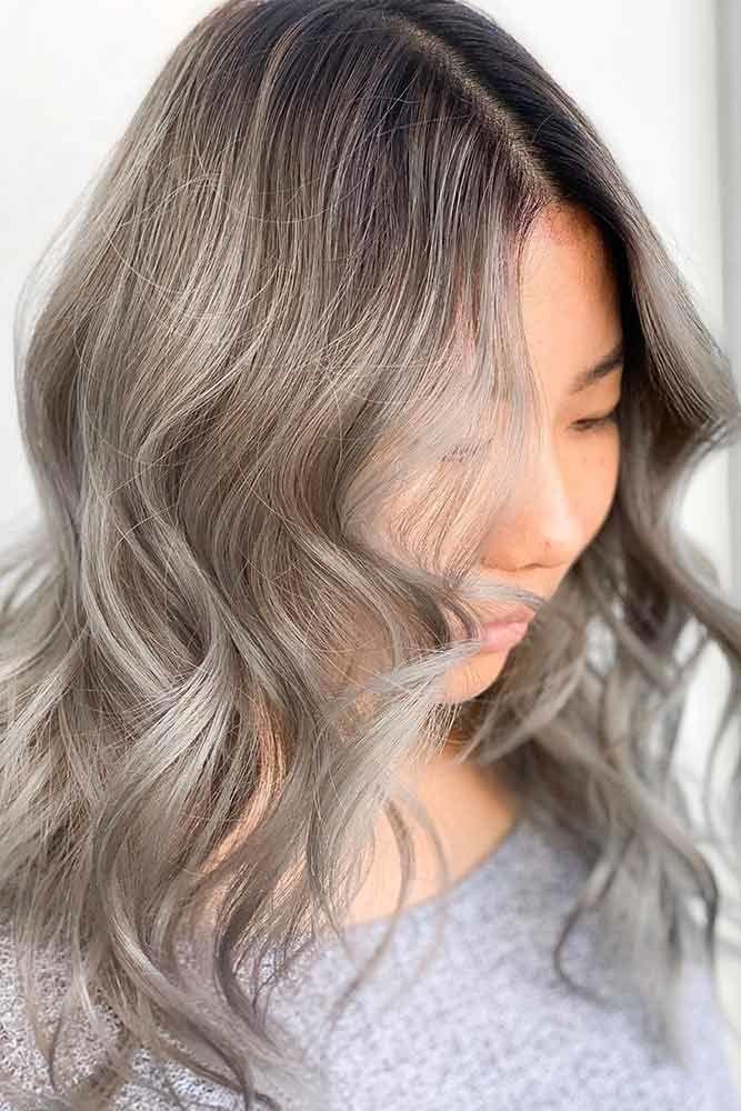 Ash Brown Balayage Greyish #ashbrown #brunette
