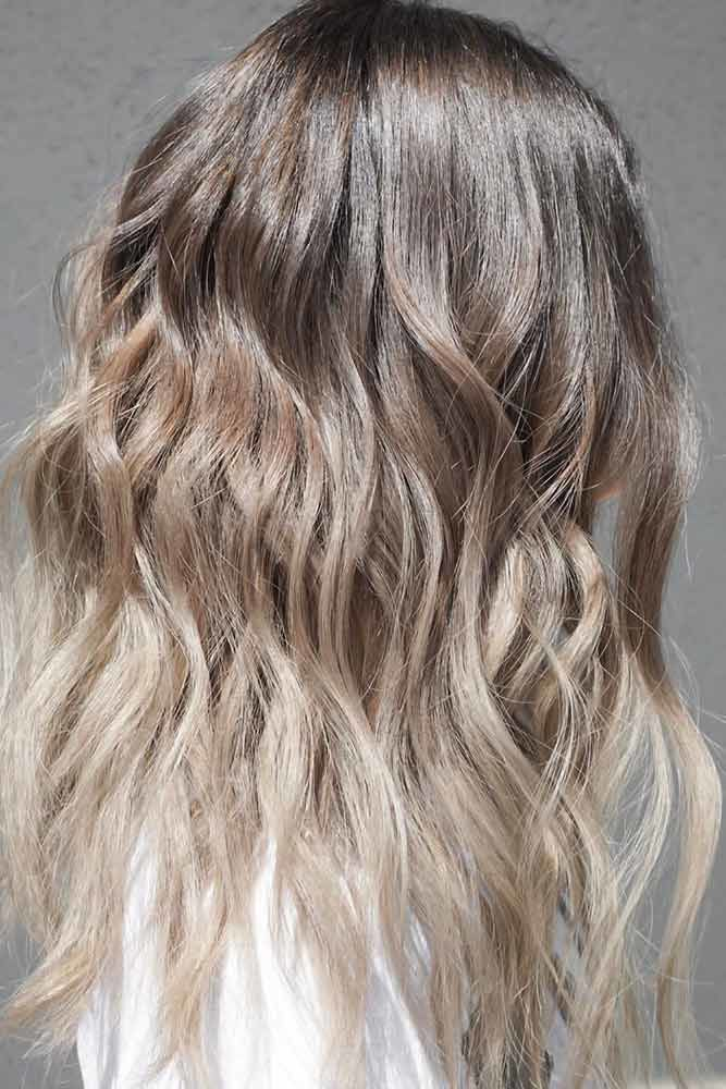 Ash Brown Ombre Coffe #ashbrown #brunette