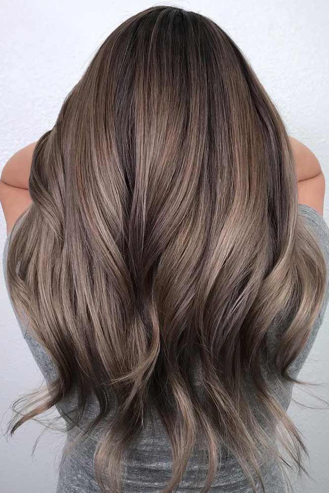 Dark Ash Brown Hair Black Roots #ashbrown #brunette