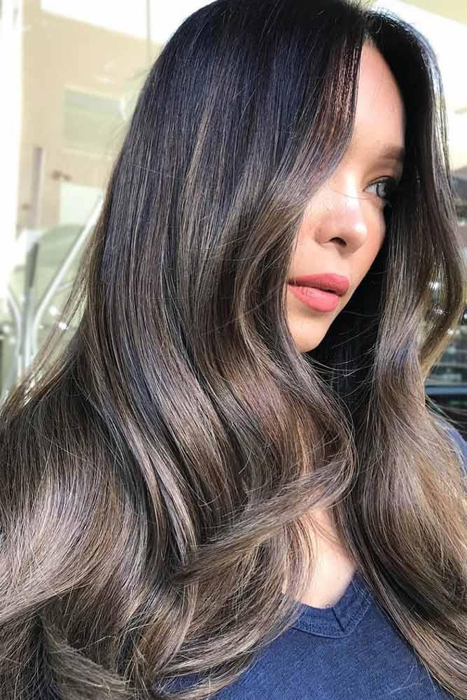 Ash Shades For Long Dark Hair #brownhair #brunette