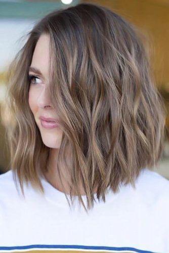 Ash Brown Ideas For Medium Hair Length Bob #ashbrown #brunette