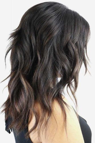 Shaggy Dark Ash Brown Hair #ashbrown #brunette