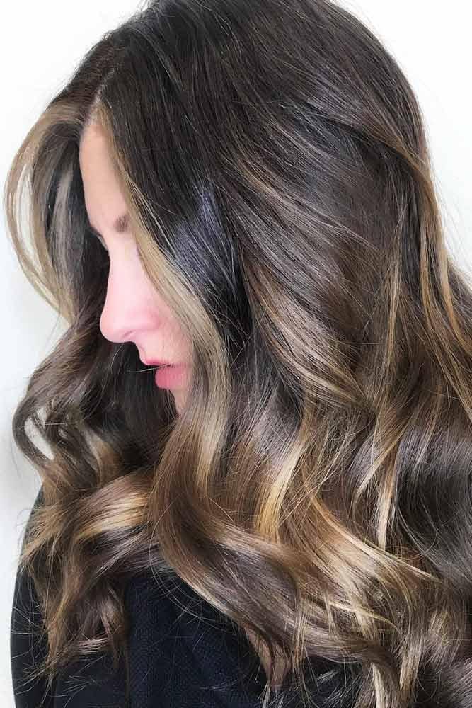 Face Framing Highlights For Long Dark Hair #brownhair #brunette #highlights