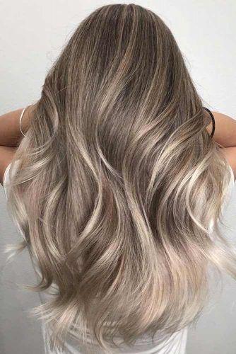 Light Ash Brown Hair Color Waves #ashbrown #brunette