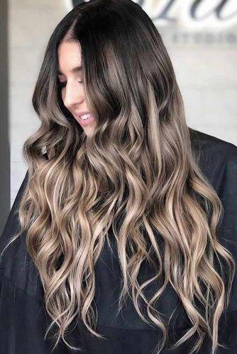 Beautiful Ash Brown Hair Ideas For Long Hair Black #ashbrown #brunette