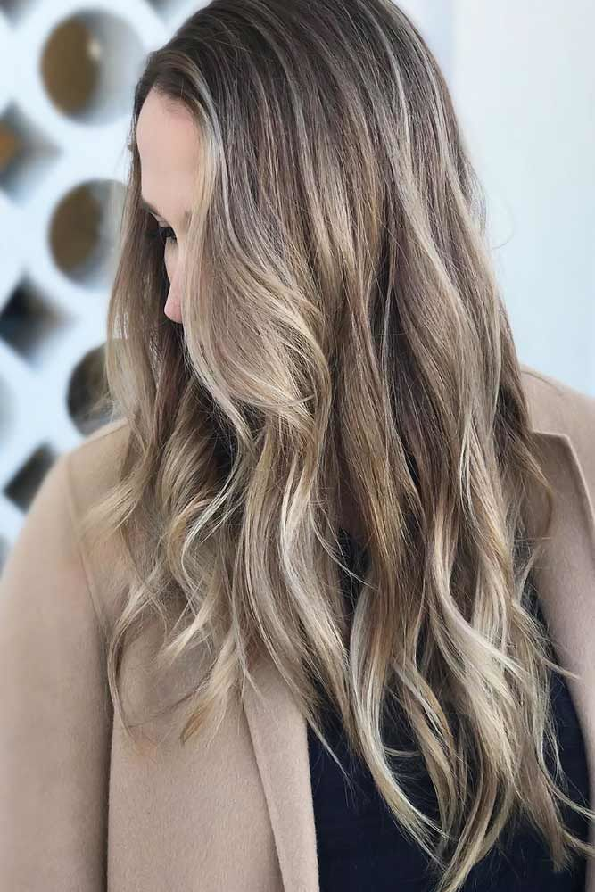Ashy Hair With Babylights Pale #ashbrown #brunette