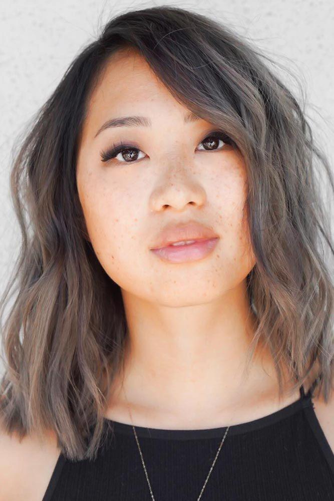 Ashy Ideas For Medium Hair Length Shoulder Length #ashbrown #brunette