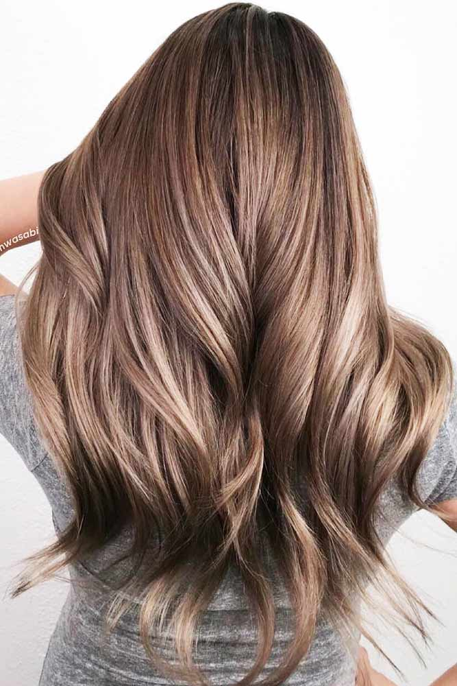 Ash Brown Sombre With Mushroom Shades #brownhair
