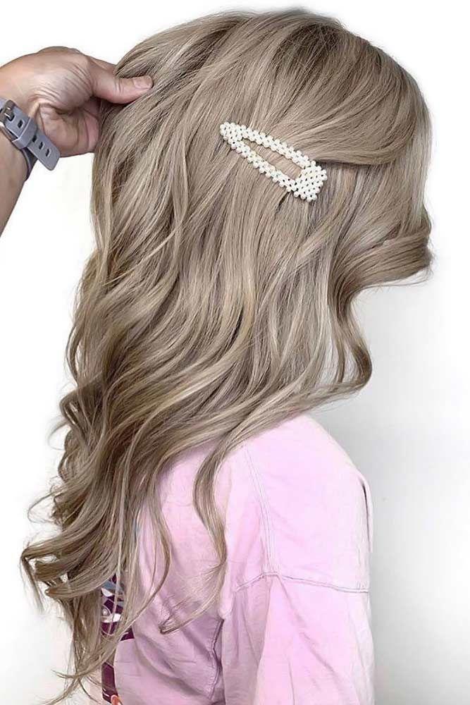 Natural Ash Brown Looks Hair Clips #ashbrown #brunette