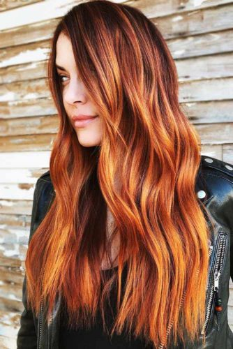 Metallic Auburn With Copper Tones #redhair #balayage