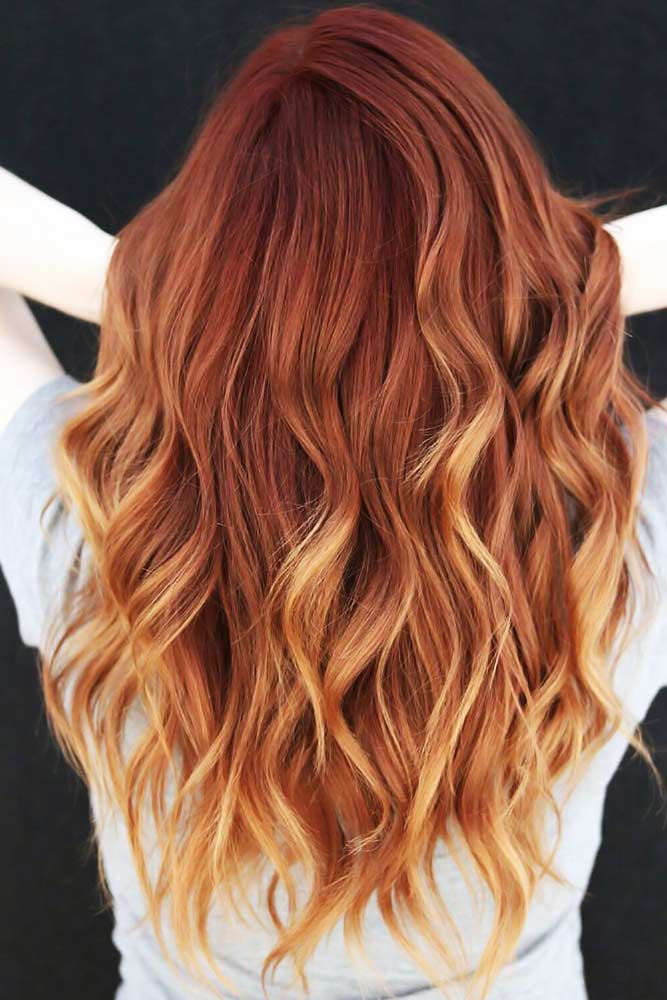 Auburn With Light Ends #redhair #auburnhair