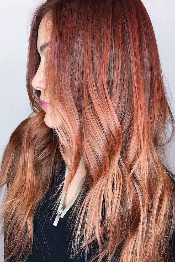 Multicolor Auburn Sorbet #redhair #ombre