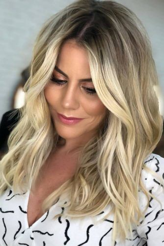 Blonde Balayage For Brunettes Goldish #balayage #ombre