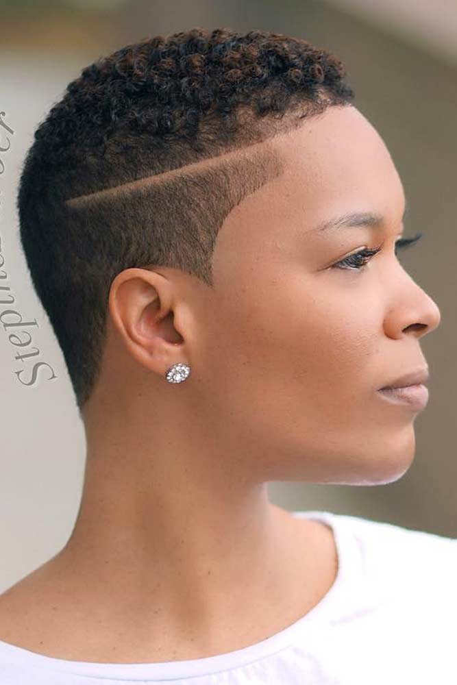 Naturally Curly Fade Hairstyles