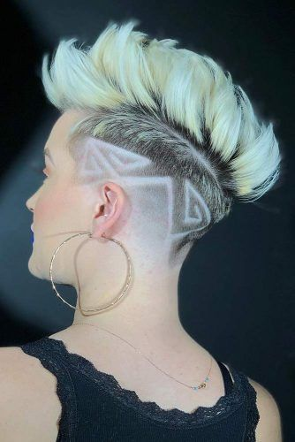 Fade Pompadour With Undercut Design #fadehaircut #haircuts #shorthaircuts