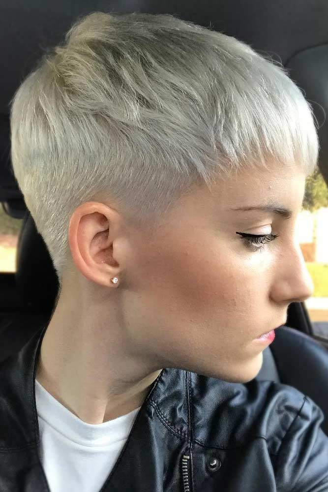 Low Fade For Short Pixie Cut