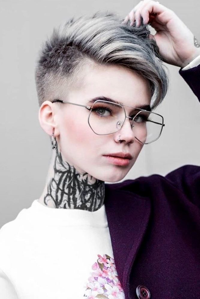 Short Side Parted Pixie With Fade Undercut #fadehaircut #haircuts #shorthaircuts
