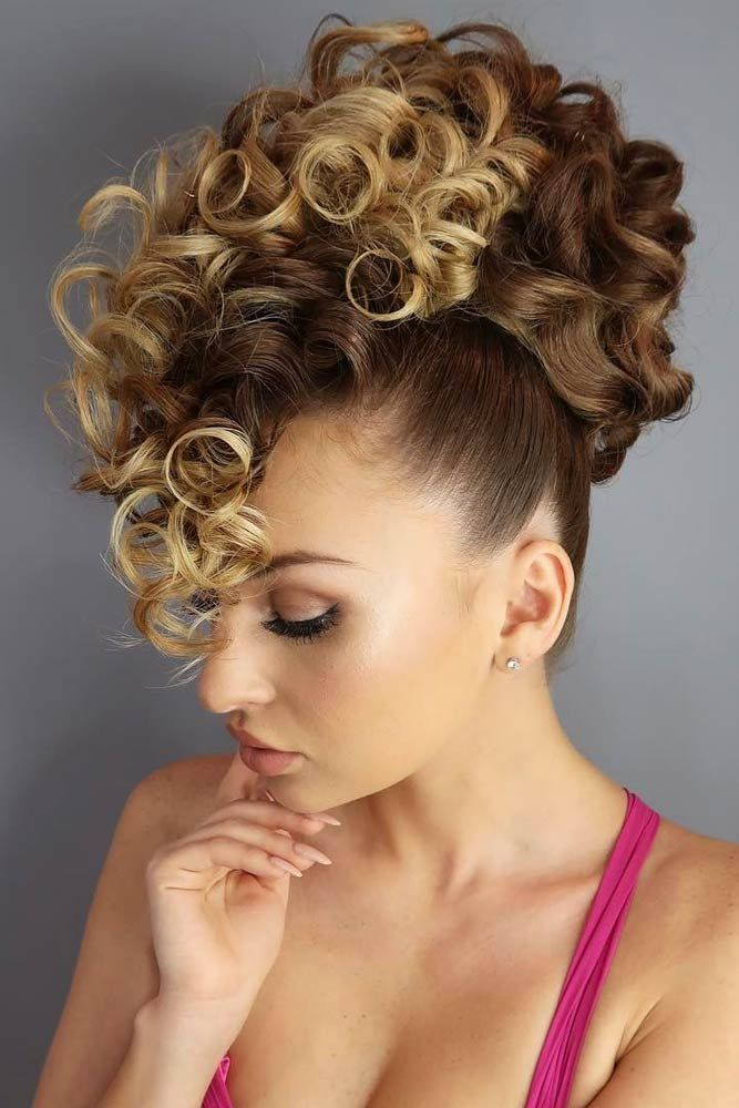 Wear Curly Updo To Look Like Diva #curlyhair #curlyhairstyles