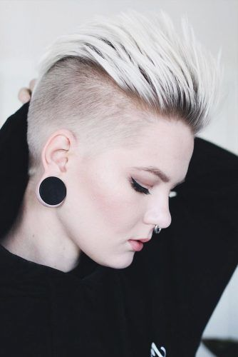 Blonde Stylish Short Haircuts #mohawkhaircut #haircuts