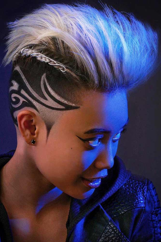 Braided Interesting Ideas For Mohawk Hairstyles #mohawkhaircut #haircuts