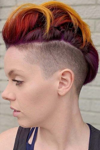 New Cool Ideas For Mohawk #mohawkhaircut #haircuts
