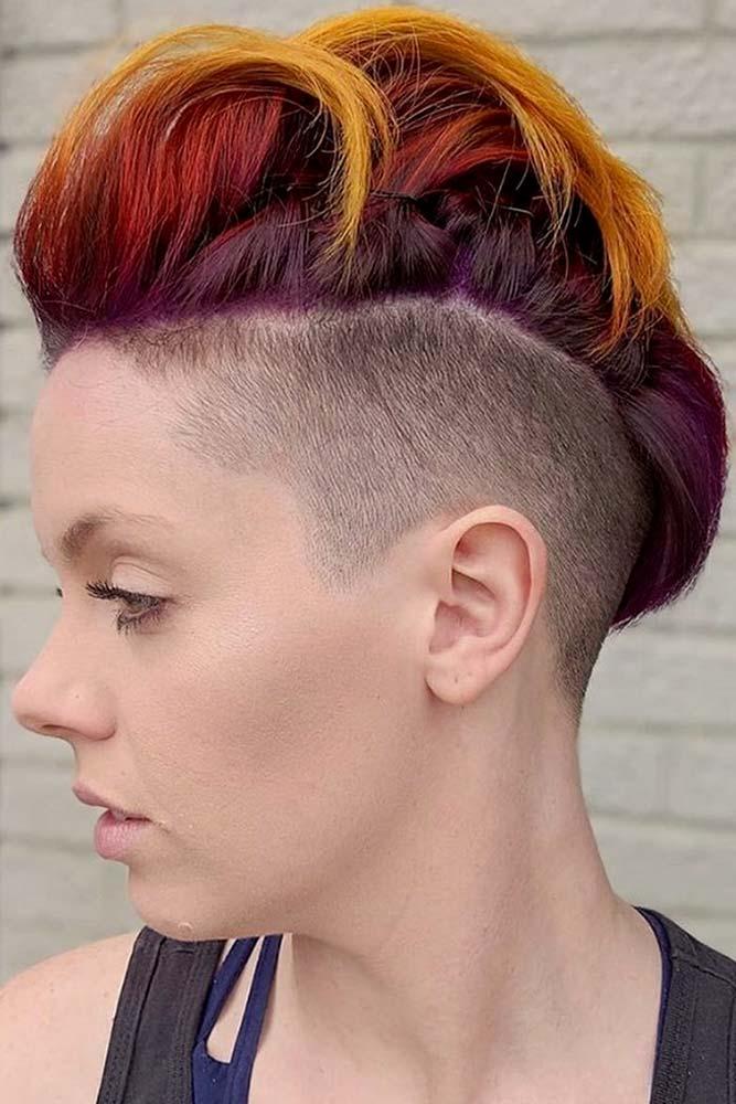 New Cool Ideas For Mohawk #mohawkhaircut #haircuts