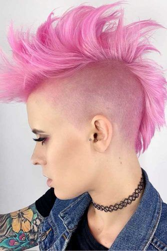 New Cool Ideas For Rose Mohawk #mohawkhaircut #haircuts