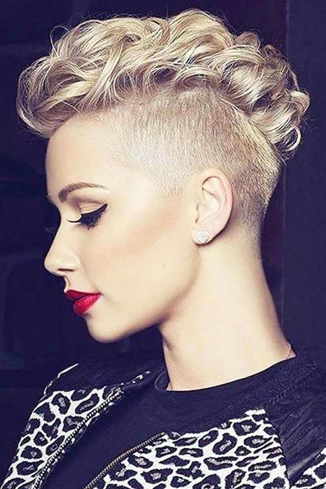 Beautiful Blonde Girls with Mohawk picture1