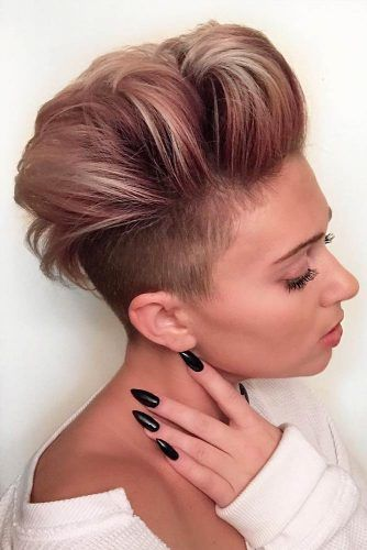 Half Shaved Head Pompadour #pompadourhairstyle #haircuts #hairstyles