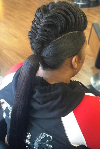 Braided Pompadour Hairstyles for Women