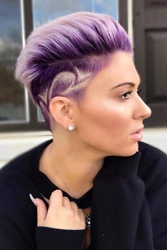 Violet Pompadour Hairstyle #pompadourhairstyle #haircuts #hairstyles