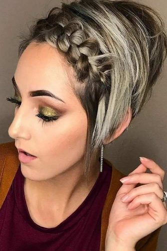 Hairstyles for Short Hair with Braided Bangs picture1
