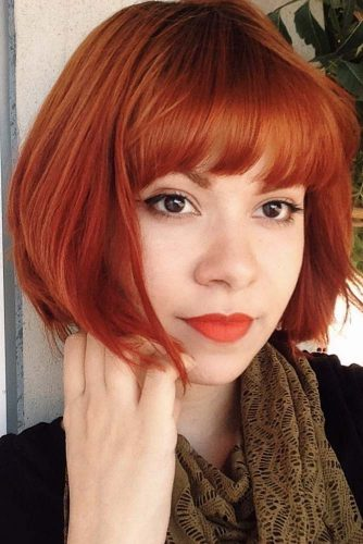 Short Hairstyles with Straight Bangs picture1