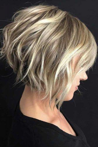Short Haircut With Bang #shorthaircuts #roundfaces #haircuts #bobcut
