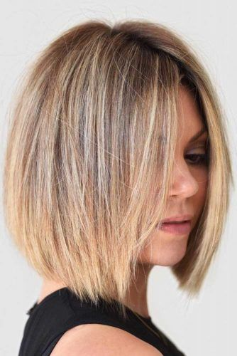 Straight Best Short To Medium Haircuts #shorthaircuts #roundfaces #haircuts #bobcut