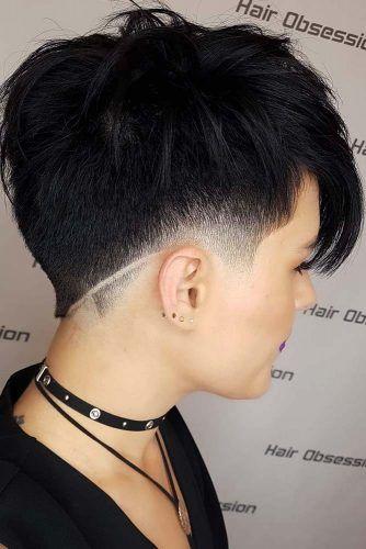 Black Tapered Pixie #taperhaircut #haircuts #shorthaircuts