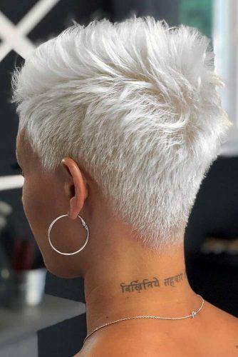 Blonde Edgy Taper Haircut #taperhaircut #haircuts #shorthaircuts
