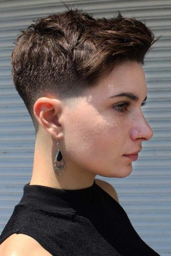 High Top Fade #fadehaircut #shorthaircuts #pixiecut