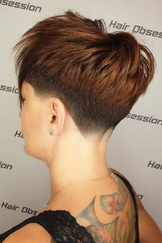 Chestnut Tapered Pixie #taperhaircut #haircuts #shorthaircuts