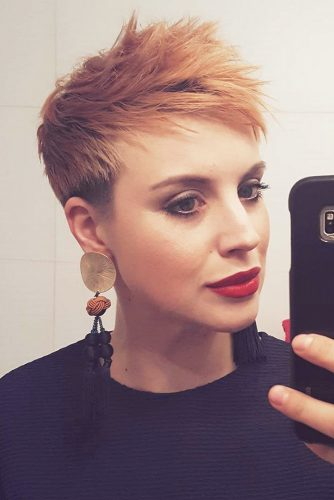Sunset Tousled Tapered Pixie Cut