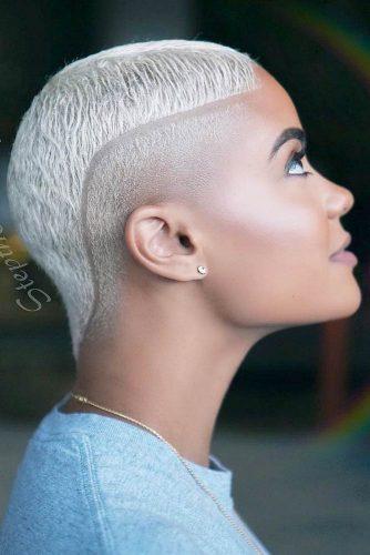 Platinum Blonde Tapered Disconnected Undercut Fade