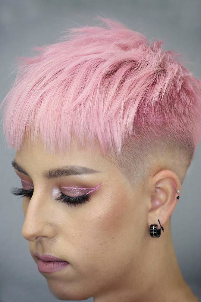 Layered Taper Haircut Fade Pink #taperhaircutwomen